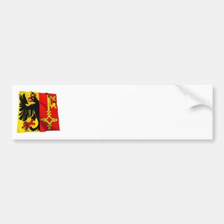 Geneva Waving Flag Bumper Sticker