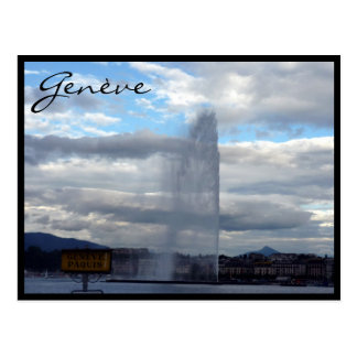 genève jet d eau postcards