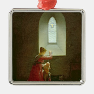 Genevieve of Brabant Baptising her Son in Prison Christmas Ornament