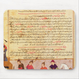 Genghis Khan and his sons by Rashid al-Din Mouse Mat