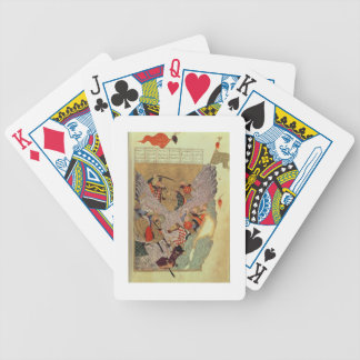 Genghis Khan (c.1162-1227) fighting the Chinese in Bicycle Playing Cards