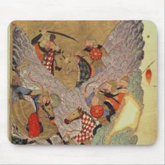 Genghis Khan (c.1162-1227) fighting the Chinese in Mouse Mat