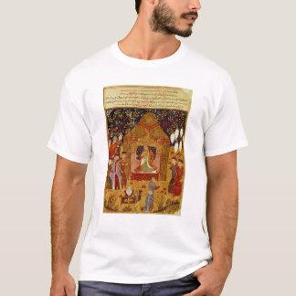 Genghis Khan in his tent by Rashid al-Din T-Shirt