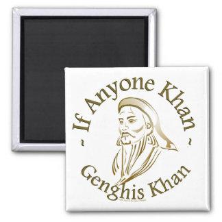 Genghis Khan Square Magnet
