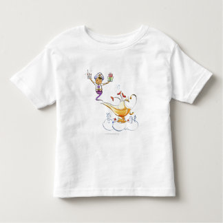 Genie bringing a house and gifts from a magic lamp toddler T-Shirt