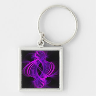 Genie Digital Fractal Artwork Keychain