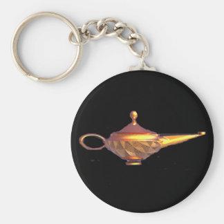 Genie Lamp Basic Round Button Key Ring