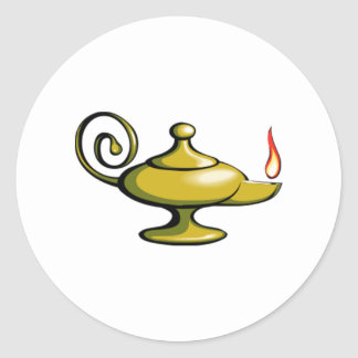 Genie Lamp Classic Round Sticker