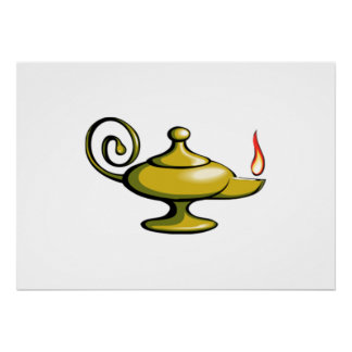 Genie Lamp Poster