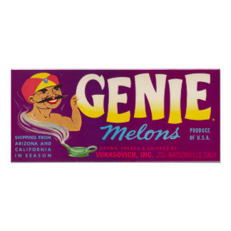 Genie Melons Poster