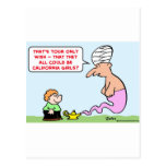 genie wish california girls postcards