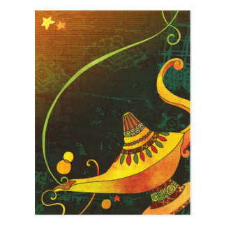 Genie's Lamp Postcard