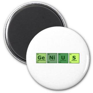 Genius 6 Cm Round Magnet
