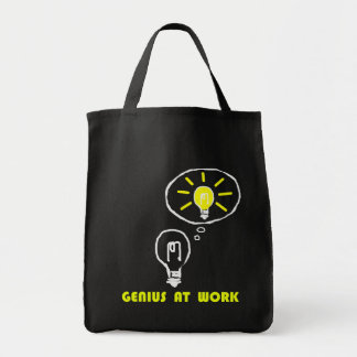 Genius at work canvas bag