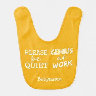 Genius at Work custom color baby bib