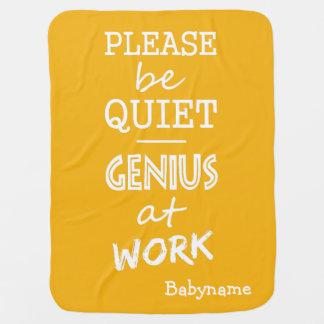 Genius at Work custom color baby blanket