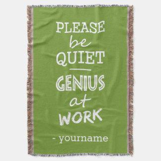 Genius at Work custom color throw blanket