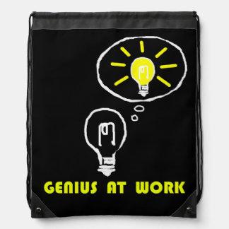 Genius at work drawstring backpack