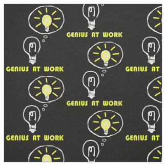 Genius at work fabric