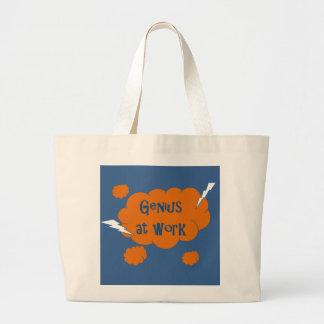 Genius at Work Large Tote Bag
