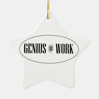 Genius At Work Logo Ceramic Star Decoration