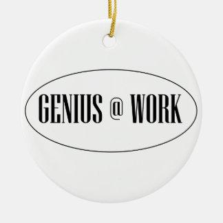 Genius At Work Logo Round Ceramic Decoration