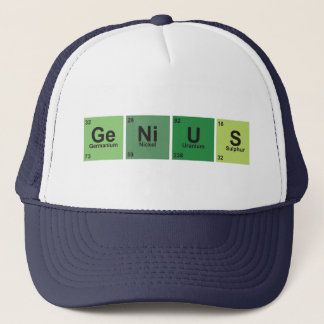 Genius CAP. Periodic table of elements. Trucker Hat