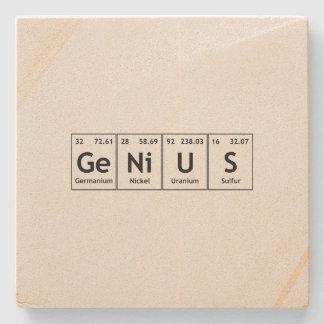 GeNiUS Chemistry Periodic Table Words Elements Stone Coaster