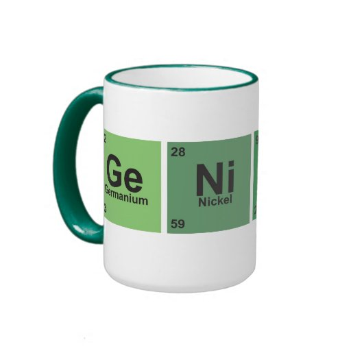 Genius Cup. Periodic table of elements. Mugs