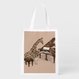 Genius Giraffe Playing Piano
