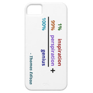 Genius is 1% inspiration and 99% perspiration iPhone 5 covers