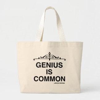 """Genius is Common"" Jumbo Tote Jumbo Tote Bag"