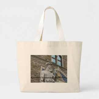 Genius is eternal patience. - Michelangelo quote Jumbo Tote Bag