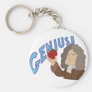 Genius! Basic Round Button Key Ring