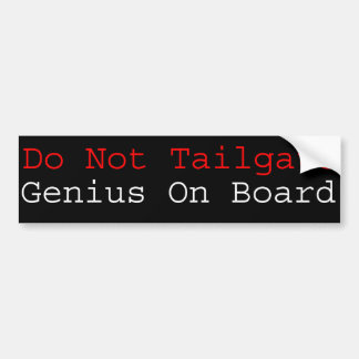Genius On Board Bumper Sticker