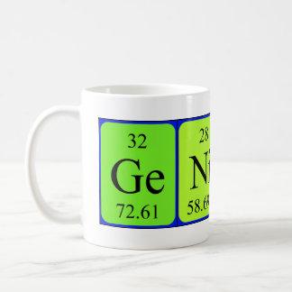 Genius periodic table mug