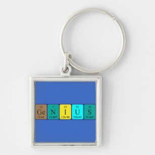 Genius spelled periodic table elements key rings keychains zazzle uk genius periodic table name keyring urtaz Image collections