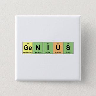 Genius - Periodic Table of Elements Products 15 Cm Square Badge