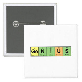 Genius - Periodic Table of Elements Products Pinback Button