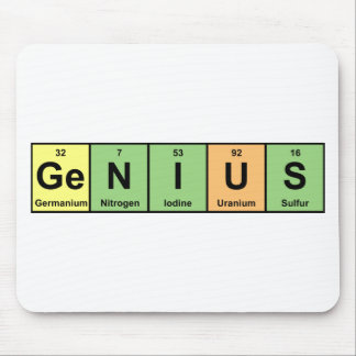 Genius - Periodic Table of Elements Products Mouse Mat
