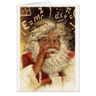 Genius Santa Greeting Card