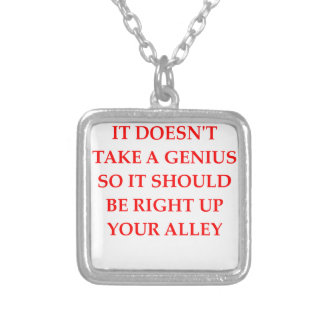 GENIUS SILVER PLATED NECKLACE