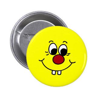 Genius Smiley Face Grumpey 6 Cm Round Badge