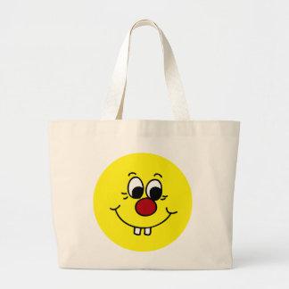Genius Smiley Face Grumpey Jumbo Tote Bag