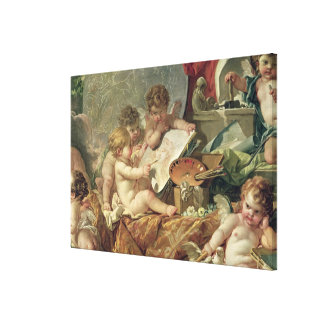 Genius Teaching the Arts, 1761 Canvas Print
