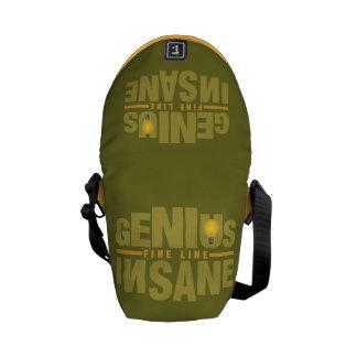 GENIUS VS INSANE custom messenger bag