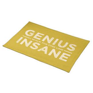 GENIUS VS INSANE custom placemat