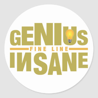 GENIUS VS INSANE custom stickers