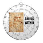 Genius Within (Leonardo da Vinci Self-Portrait) Dartboard