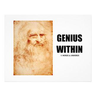 Genius Within Leonardo da Vinci Self-Portrait Flyers